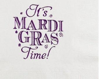 It's Mardi Gras Time Napkins