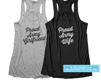 Proud Army tank top, Custom shirt, Army wife tank top, Army girlfriend tank top, Army sister tank top, Army mom tank top, Army wife shirt
