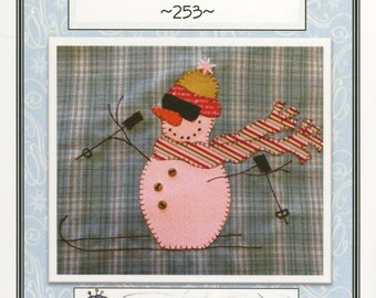 Skiing Fun! Applique Pattern by Quilt Doodle Designs (QD253)