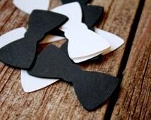 Bow Tie, Paper Confetti, Black and White, Confetti, Bow Tie Confetti, Table Decor, Wedding Confetti, Wedding Decor
