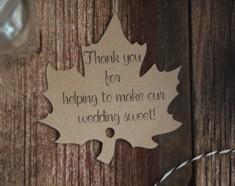 Wedding Favor Tags, Wedding Tags, Wedding Favor, Fall Wedding Favor, Favor Tags, Gift Tags, Wedding Favors