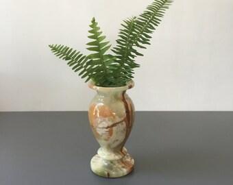 vintage onyx bud vase small polished stone vase