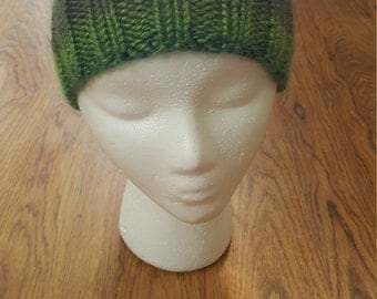 Multi-color slouchy beanie