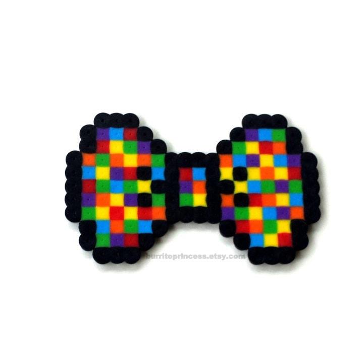 8 Bit Hair Bow 8 Bit Bow Tie 8 Bit Bow Pixel Bow Pixel