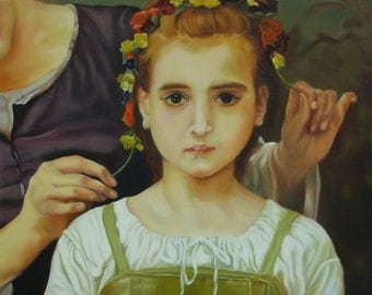 Jewel of the Fields, master copy detail, after Bouguereau