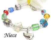 Niece Bracelet, Gift Idea For Niece, Colorful Beaded A102