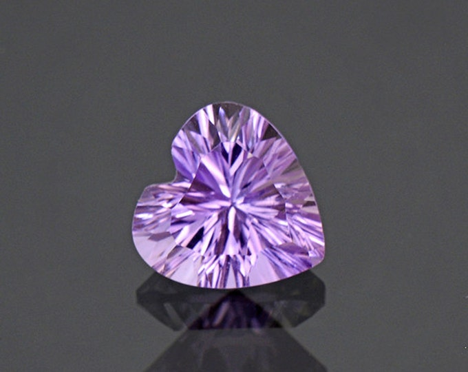 Brilliant Heart Ametrine Quartz Gemstone from Bolivia 2.47 cts.
