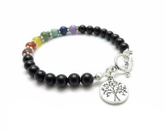 Tree Of Life Chakra  Bracelet Yoga Jewelry Chakra Jewelry Bohemian Yoga Bracelet Buddhist  Meditation Energy Christmas Stocking Stuffer