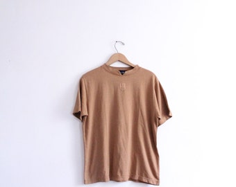 Minimal Brown Logo Tee