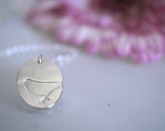Silver Bird Necklace - .999 Fine Silver
