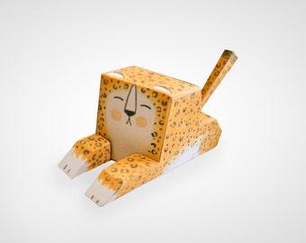 Paper Toy - Leopoldo - Leopard Paper Toy
