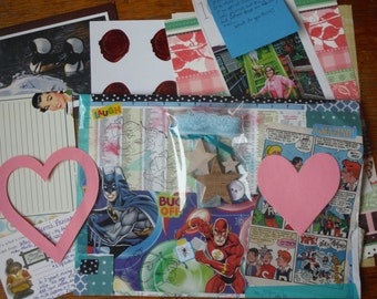 Personal Happy Mail! A fun snail mail package just for you! Surprise grab bag style package in your mailbox. Birthday pen pal military mail.
