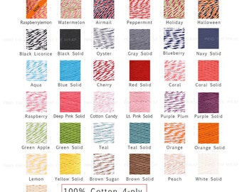 Twine Sampler - Six Wood Spools 10-yards each - Divine Twine & Doodle Twine - Choose Colors - Make your own Assortment