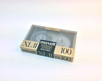 Sealed Maxell XL II 100  IEC Type ii high position CrO2 blank cassette tape made in Japan
