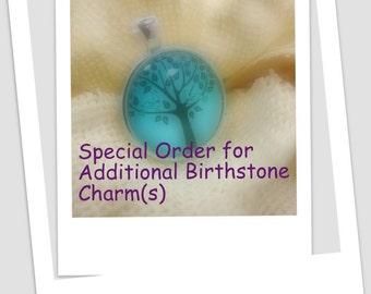 Custom Order Additional Swarovski Charms for Tree of Life Pendants