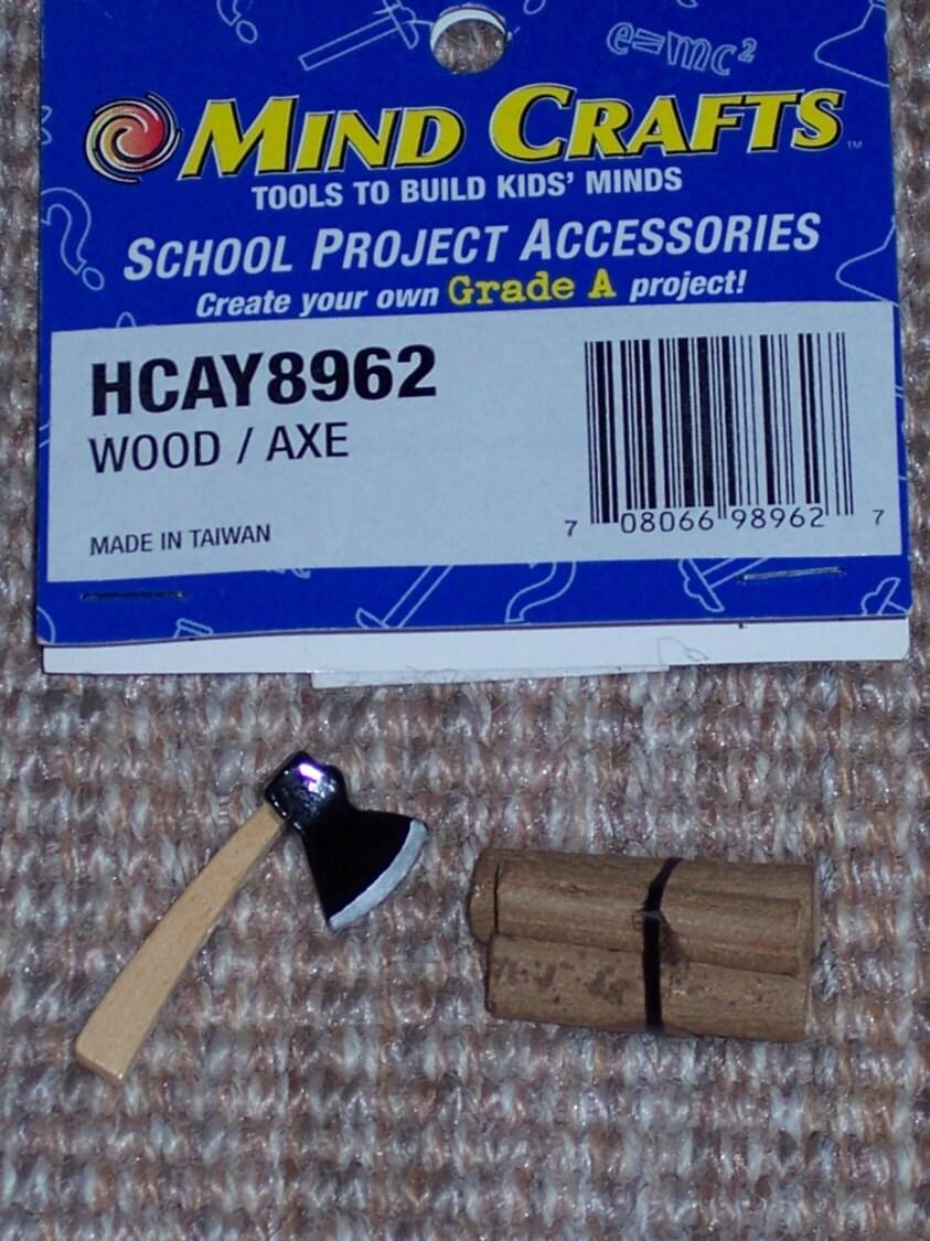Mini wood pile with axedioramacraft pieceminiaturesmodel for Woodpile fun craft ideas