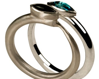 Tapered stacking rings