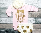 Baby Shower Gift That Bow Though Shirt Bodysuit Baby Girl Clothes Baby Girl Shirt Baby Clothes Baby Gift White And Gold #30