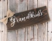 grandkids picture frame . grandma grandpa photo holder . gift for grandparents personalize . grandkids make life grand . nana papa frame