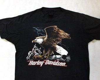 80's Harley Davidson 1985 T-Shirt M Eagle
