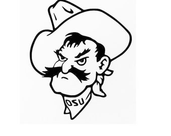Pistol Pete Vinyl Decal I OSU