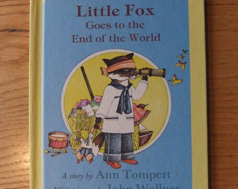 Little Fox Goes to the End of the World 1976 by Ann Tompert and John Wallner Vintage Children's Book Collectible