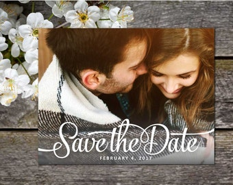 Embrace Vintage Photo Save-the-Date Postcard