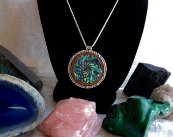 Time Traveler Pendant, Abalone inlay