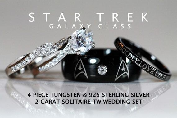 STAR TREK Galaxy Class Tungsten And 925 Sterling By C9TTUNGSTEN