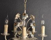 Beautiful vintage toleware flower chandelier