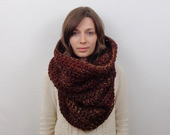 Giant Knit Cowl Scarf Oversized Chunky Cowl Hood Wool | THE POMPEII