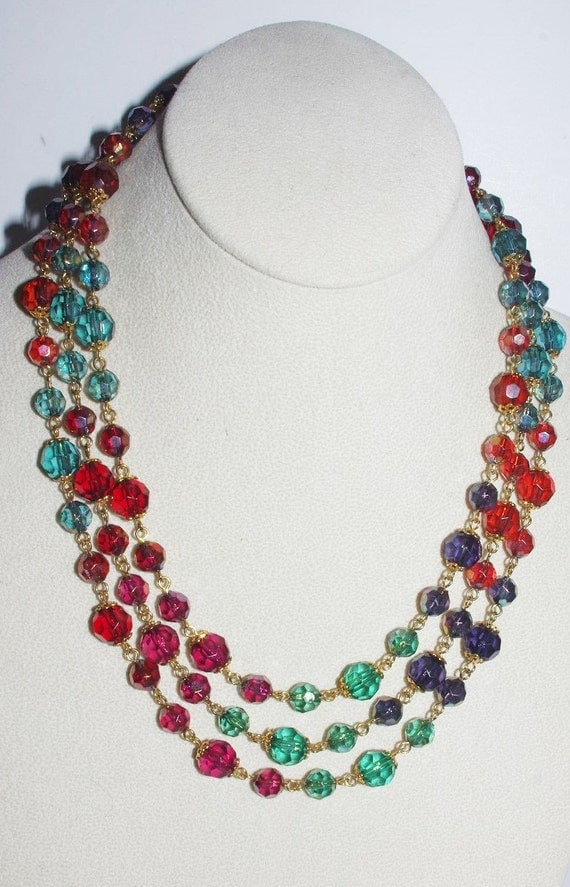 Joan rivers beaded necklace multi color 60 inches s1641 for Joan rivers jewelry necklaces