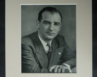 Vintage Print of Joseph McCarthy, Witch Trial Decor, Available Framed, Cold War Art, Republican Gift, Conservative Wall Art, McCarthyism Art