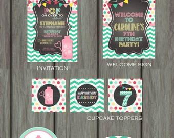 Bubble Birthday Party, Bubbles Birthday Party, Bubbles Birthday Decoration, Bubble Birthday Invitation, Bubbles Party, Pop Birthday Party