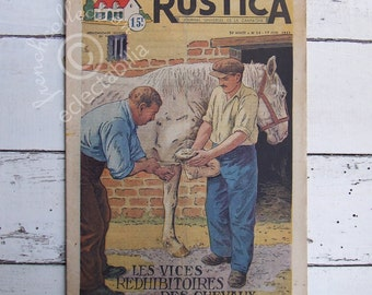 Vintage French Farm Home & Garden Rustica Magazine 1951 Horses Thrushes Garden Planning