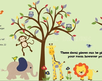 Nursery Wall Decals For Baby Nurserys And By StickItDecalDesigns - Nursery wall decals jungle