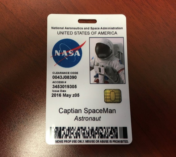 Image Gallery nasa id badge