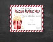 Redbox Movie Printable - use it to gift promo codes  - Teacher Appreciation, Redbox Gift Certificate (Instant Download)