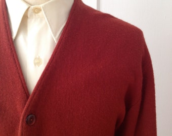 Vintage Brick Red Cardigan by JC Penney Size Large