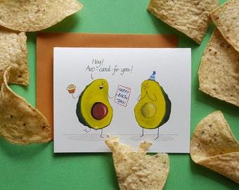 avocado birthday card - funny birthday card