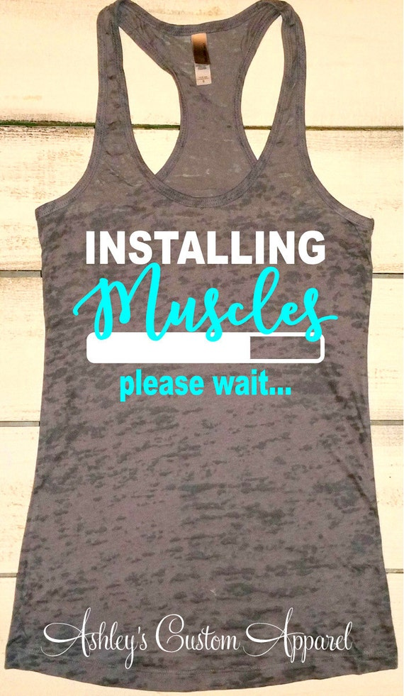 Funny fitness shirts inspirational work out tanks womens for Workout shirt for women