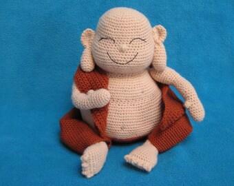 Amigurumi Laughing Buddha Happy Monk Doll Toy PDF Crochet Pattern
