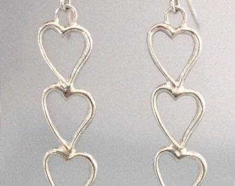 Three times happy,sterling silver earrings