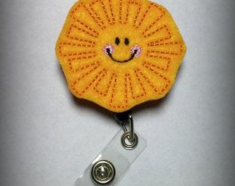 Sun Badge Reel-Pediatric Id holder- Retractable Nursing Badge Holder