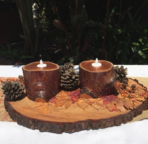 Items similar to woodland decor pc tree branch candle