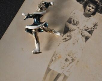 1950s Ice Skater Pin