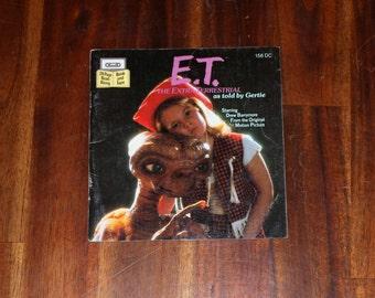 E.T. The Extraterrestrial - Vintage Children's Book 1982, ET, Drew Barrymore, Read Along, Kids, Paperback, Fantasy
