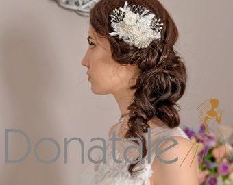 Bridal hair comb Wedding Hair Piece Wedding Hair Flower   Bridesmaid hair Accessories Bridal Headpiece Bridal Hair Piece- MAIA