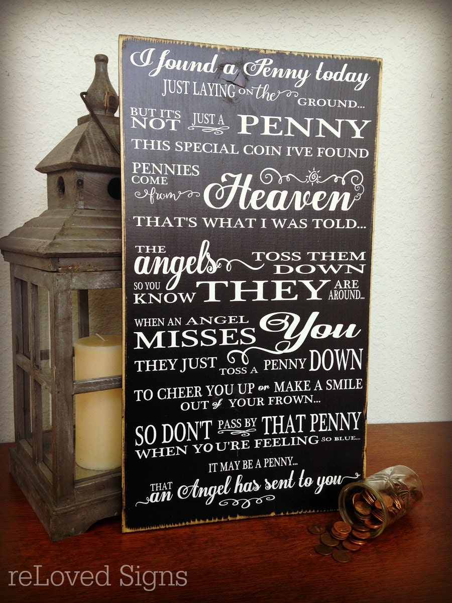 Memorial Sign Pennies from Heaven Remembrance Gift Wedding