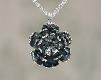 Sterling Silver Flower Charm – Sterling Silver Charm – Sterling Flower Charm – Sterling Charm Flower Pendant Sterling Silver Flower Jewelry